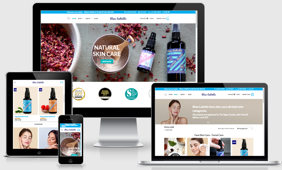 ecommerce website design services uk