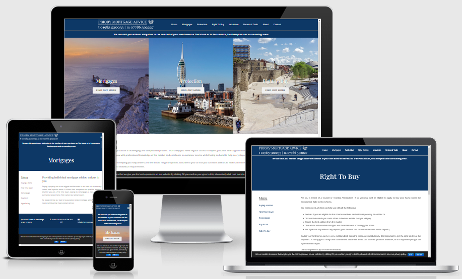 Priory Mortgage Advice - Mobile Responsive Websityes IOW
