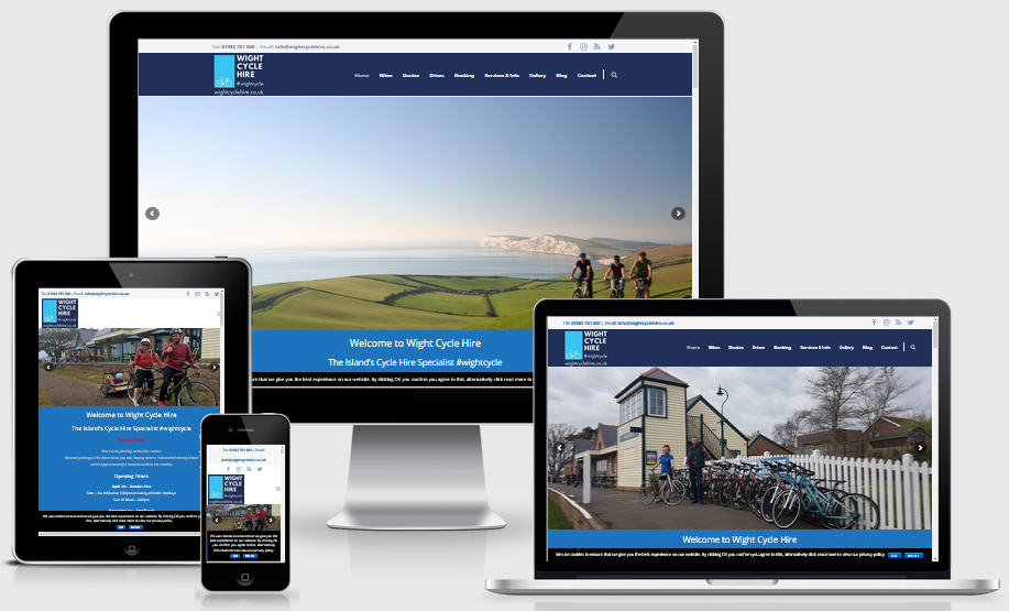 Wight Cycle Hire Isle of Wight - Mobile Responsive Web Design Isle of Wight